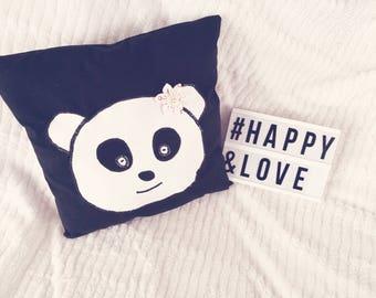 Cushion panda children in pre order
