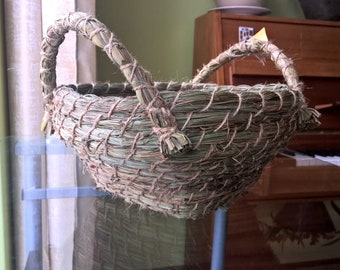 Handmade basket from natural herbs