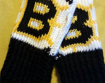 Boston Bruins Fingerless Gloves Wrist Warmers