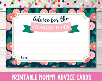 Printable Baby Advice Cards Instant Download Printable Advice for the Mommy to Be Cards PDF