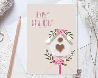 Happy new home card, congratulations on your new home, moving card, moving house