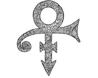 Prince Symbol Notecard Blank Inside