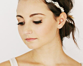Bridal Pearl Embellished Headband Hair Accessories