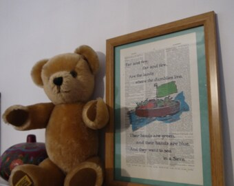 Framed The Jumblies Antique Dictionary Print