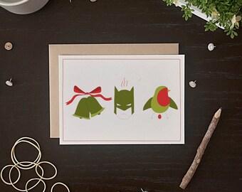 Funny Christmas Card - Funny Holiday Card - Batman Christmas Card