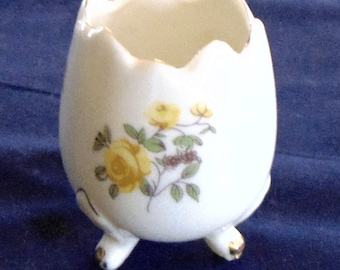 A Price Vintage Candleholder in White and Yellow