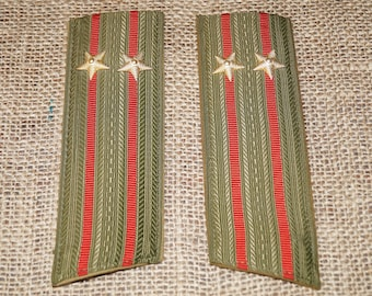 Memorabilia Soviet badges Military ussr Soviet union Vintage shoulder USSR badges Police Shoulder straps Soviet Military Red army Officer