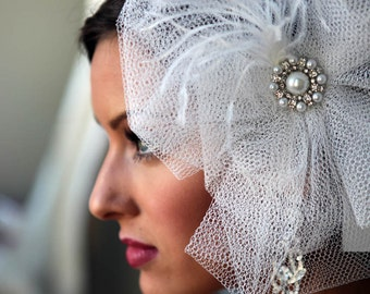 Bridal Clip - Couture, Oversized Hairpiece