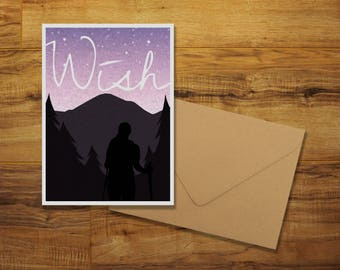 A Wishful Outdoors Greeting Card