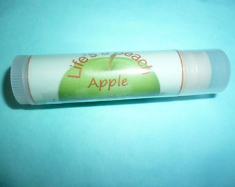 Apple Lip Balm. Lip Butter. Vitamin E. Cocoa Butter. Mango Butter