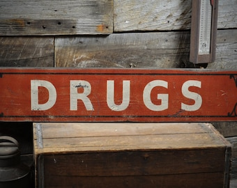 Drugs Sign, Pharmacy Sign, Pharmacist Gift, Pharmacist Decor, Pharmacy Decor, Wood Pharmacy Sign,Primitive Rustic HandMade Wooden ENS1000290