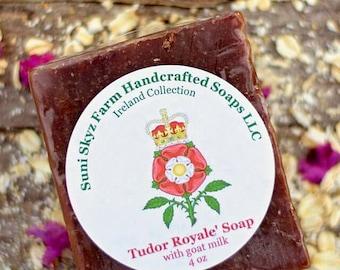 Tudor Royale Soap - Irish Soap - Black Rose Soap - Goat Milk Soap - Vetiver Soap - Handmade Soap - Suni Skyz Farm Soap - Ireland Collection