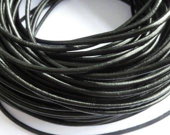 1 m leather cord 3 mm black PR01000