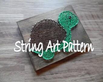DIY String Art Pattern, String Art Turtle Pattern, String Art Pattern, Turtle String Art Pattern, Download String Art Pattern, Turtle Design