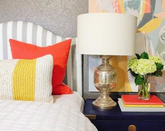 Classic Dorm Headboard, Twin Headboard, Ash Gray Fabrics, Dorm Room Headboard, Dorm Decor, Graduation Gift, Bedroom Decor, Dorm Decorations