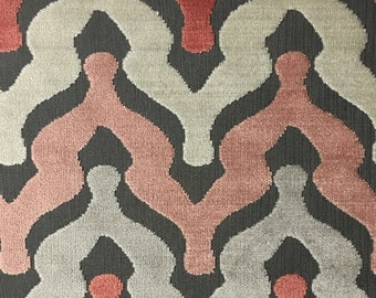 Upholstery Fabric - Leicester - Blush - Cut Velvet Home Decor Upholstery, Drapery, & Pillow Fabric by the Yard - Available in 13 Colors