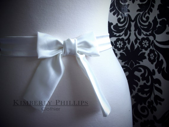 Small Satin Bow Belt with Tails, Assorted Colors, Flower girl, Bridesmaid, Wedding Gown, Bridal Sash