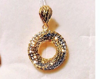 Lumiere infinity 22k solid 916 gold pendant