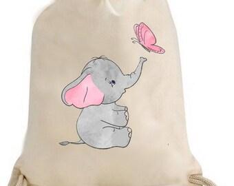 Back to school, gym, pool, gym bag / Duffel Elephant grey
