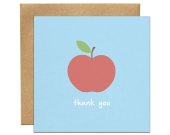 Thank You Apple Greeting Card | Made In Australia
