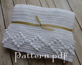 PDF Pattern - Crocheted Diamond Edged Blanket