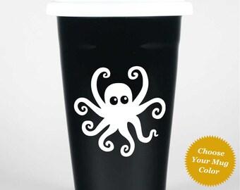 Octopus Travel Mug w/ lid
