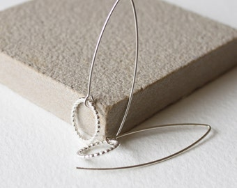 Silver or Gold fill, threader earrings, minimal dainty earrings, delicate earrings, gift for her, birthday gift, silver ear threaders