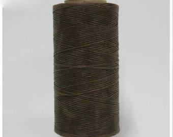 1mm Waxed Polyester Cord 160m Bark brown