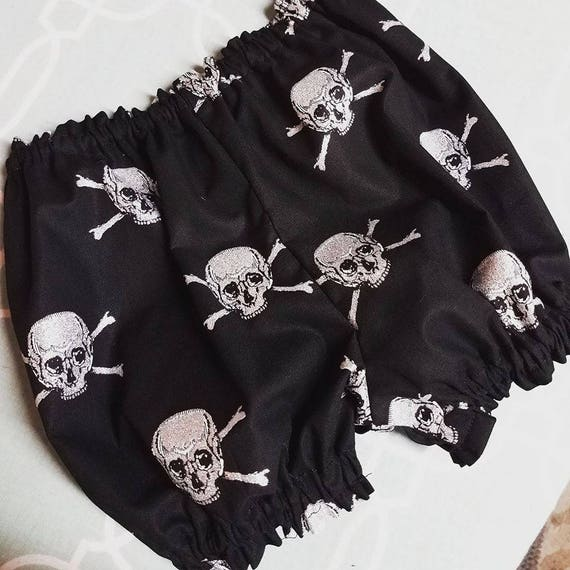 Goth, Skull, Cross Bones, Steampunk, Bloomers, Large Headband Set, Macabre, Cosplay, Lolita, Baby Diva Baby Punk Set