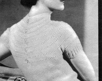1930s Shetland Blouse- PDF Knitting E-Pattern Download