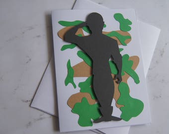 "Father's Day 3D Card ""Soldier"""