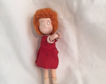 "1982 Applause Knickerbocker Mini Little Orphan Annie 4 1/2"" Inches"