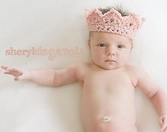 CROCHET PATTERN  - Princess or Prince Crochet Crown  Newborn PATTERN 002  -  Great Photography Prop pattern