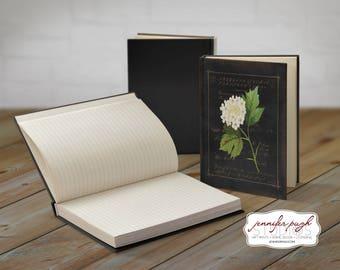 Flowers D 5x7 Hardback Bound Journal -Inspirational, Word Art