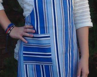 Blue Stripe Apron, Apron for Kids