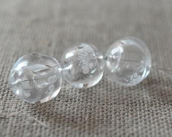 Handmade Glass Lampwork Beads - Hollow Transparent Beads