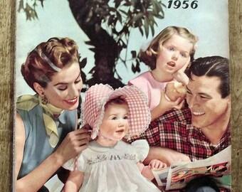 Almanac Le petit Écho de fashion Almanac 1956 sewing, knitting, knitting antique french magazine