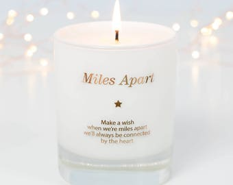 Long Distance Gift, Long Distance Friendship, Long Distance Relationship, Miles Apart, Scented Candle, long Distance at Christmas