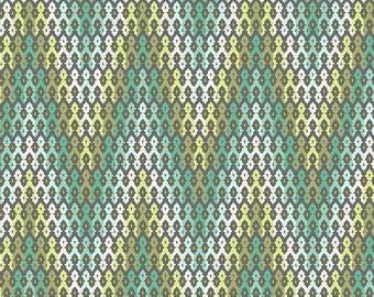 Modern Chevron Fabric - Chipper by Tula Pink for Free Spirit - The Wanderer Mint - Fabric By the Half Yard