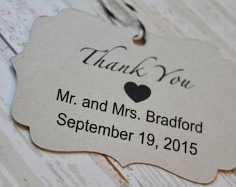 Wedding Favor Tag, Thank You Tag, Bracket Tag, Thank You I Do, Favor Tag, Gift Tag, Weddings