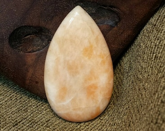 Natural Orange Chalcedony Teardrop