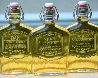 Groomsmen Gift, Groomsman Flask, Custom Flask, Best Man Gift, Personalized Flask, Groomsman Gift, Personalized Decanter Wedding Gift for Men
