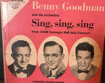 Benny Goodman 45 Vinyl LP 1938 Carnegie Hall Jazz Concert