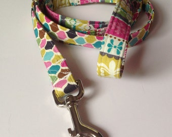 Colorful Pink Striped Moroccan Dog Leash