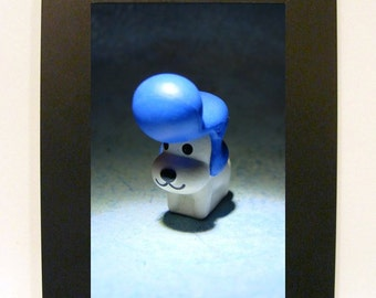 "Framed Dog Elvis Toy Photograph 5"" x 7"""
