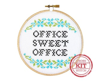Office Sweet Office DIY Cross Stitch Kit