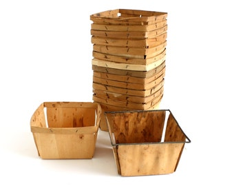 Wood Strawberry Baskets Quart Berry Containers Boxes Crates (used, as-is)