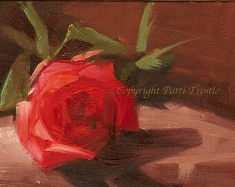 Original oil painting Roses Spring art work unique gift  love red rose flower flowers gift gifts still life painting