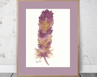 Feather Study Purple and Maize