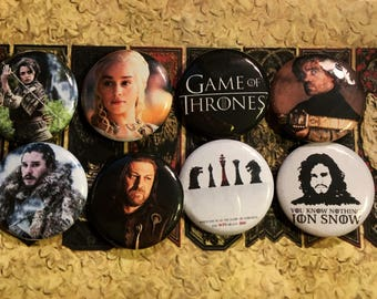 Game Of Thrones Buttons